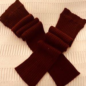 Accessories - Avita bamboo cashmere burgundy leg warmers